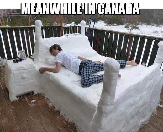 Canada. .. OP's bed. Canada OP's bed