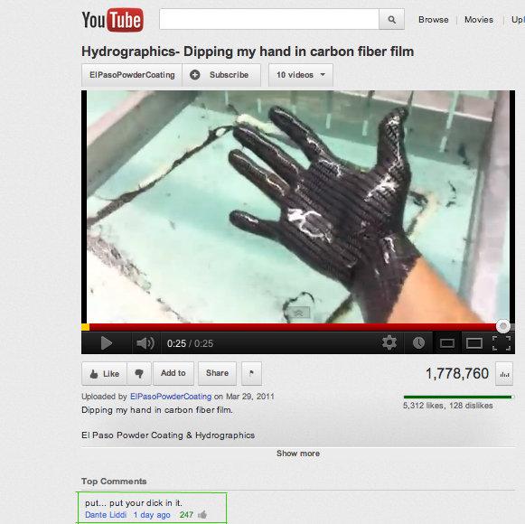 "Carbon Fiber. I wish... ffa ltl. l' iria. ck Bi- Upl Dipping my hand in carbon fiber film i We T Wm Share "" , 778, 760 slut mama by on Mar 29, Dipping TY hand i tags tags tags"