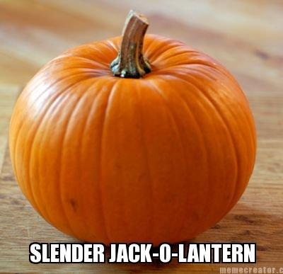 carving skills. oc a la me. slender Pumpkin