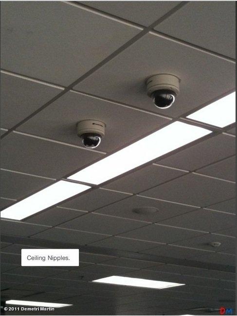 Ceiling Nipples. . dopoqob demetri Martin ceiling nipples
