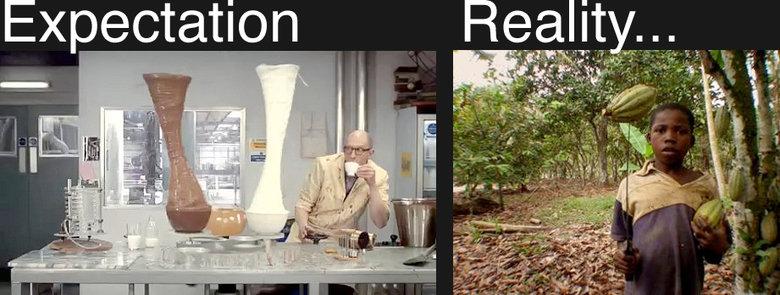 Chocolate: Expectation vs. Reality. Expectation vs reality of Chocolate.... cadbury