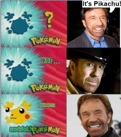 Chuck norris. its true.. chuck norris is never wrong PIKACHU Chuck Norris win Pokemon shadowapocalypse