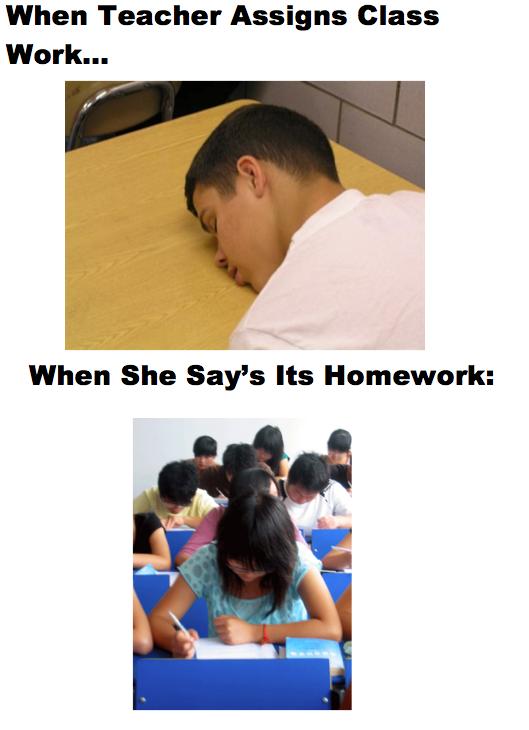 Class Work Explained. . When Teacher Assigns Class When She Says Its Homework: Class Work Explained When Teacher Assigns She Says Its Homework: