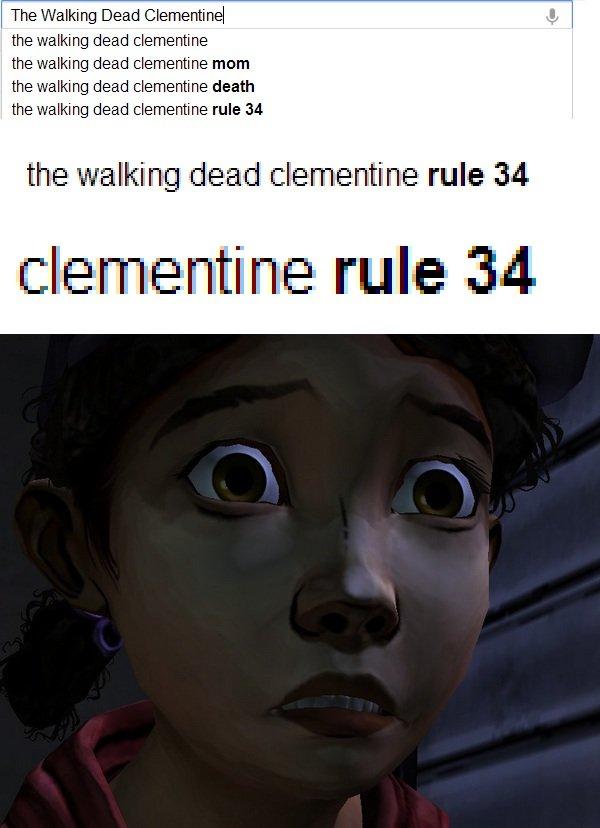 Clementine. found.. The Walking Dead ( the walking deed .. the fellating deed ::' mum deed death the deed :: he rule 34 the ili! ' alti' E rule iai! itrite rule clementine Walking dead
