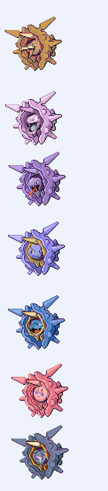 cloitoris. cloister Pokemon fusion.