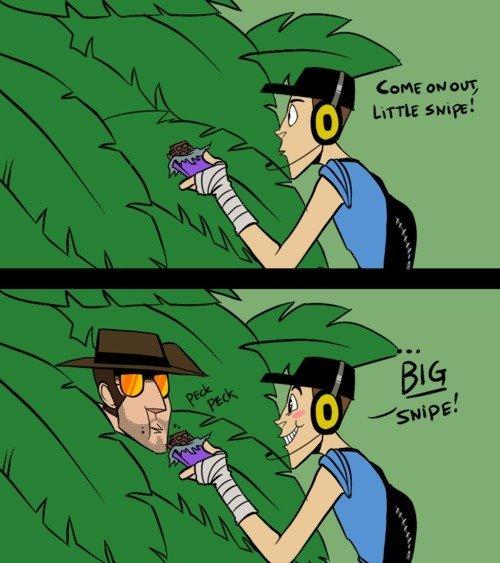 Cmon out little sniper :D. omg 5 words my ass cheeks.. TF2 thread anyone? :D little snipe