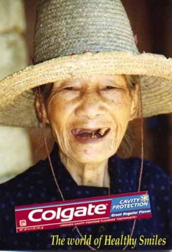 Colgate works wonders. Colgate solves teeth issues. Boobs vuvuzela Colgate tooth toothpaste DSend