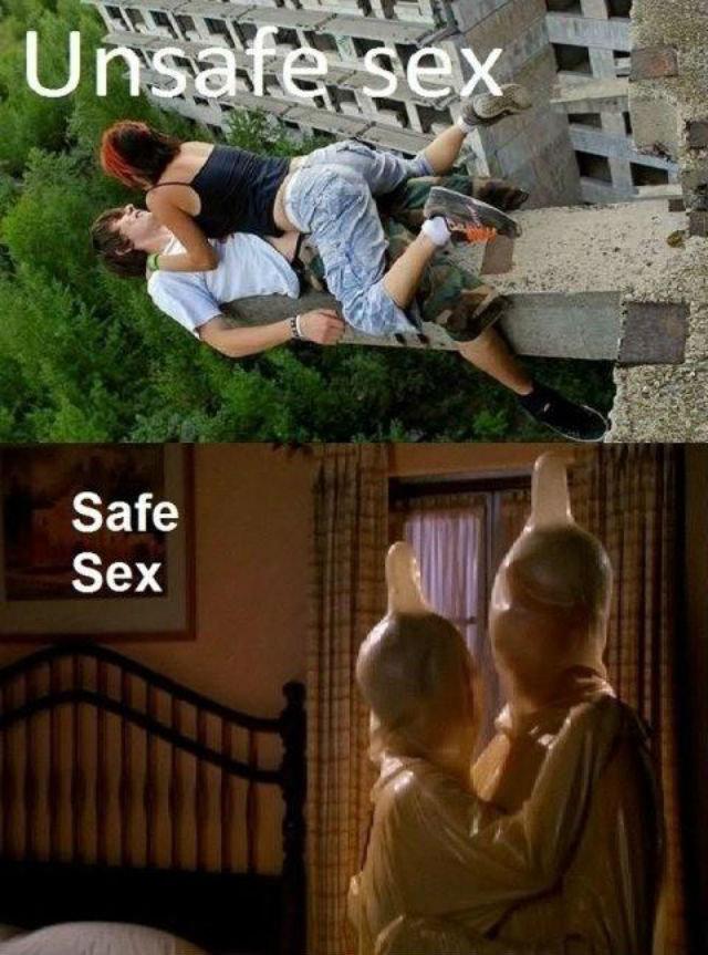Condoms R Us. . Sex Safe Unsafe