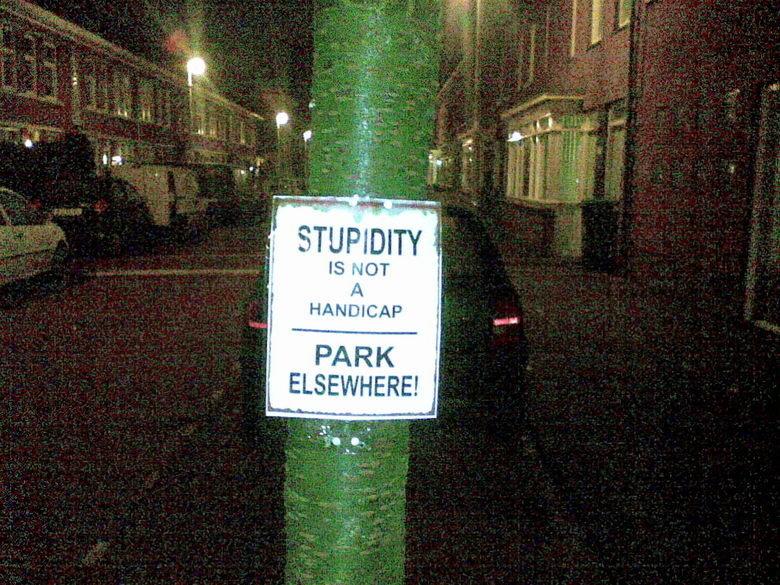 crazy neighbor. got some crazy neighbor. ELSEWHERE! I IS MDT HANDICAP PARK Stupid Crazy neighbor Parking