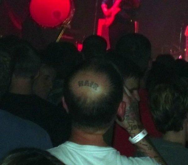 creative. .. i think he says in saloon tattoo me a hair on my head creative i think he says in saloon tattoo me a hair on my head