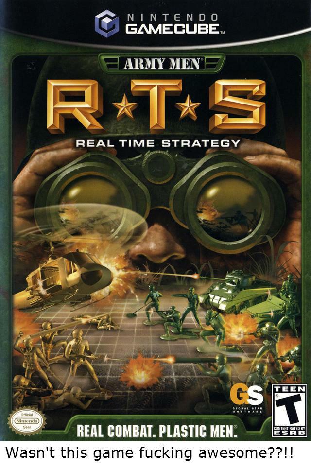 Gamecube nostalgia. Sweet reminisce.... ABM y MEN REAL TIME STRATEGY. All the army men games where epic! :) gamecube gc Army Men