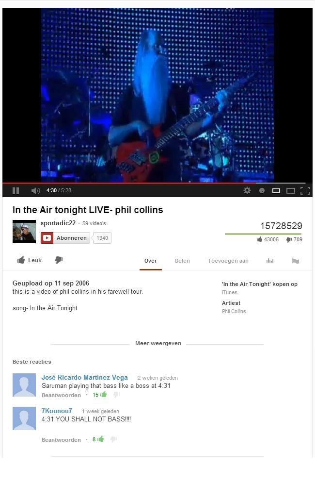 "Gandalf playing bass.. . In the "" phil collins 59 -wine' s 15728529 El 1340 . mg If Leak . Deer Deter: sent the is Reupload rep 11 we 2006 ' the Air Tonight' xt gandalf Sauruman Dumbledore bass"