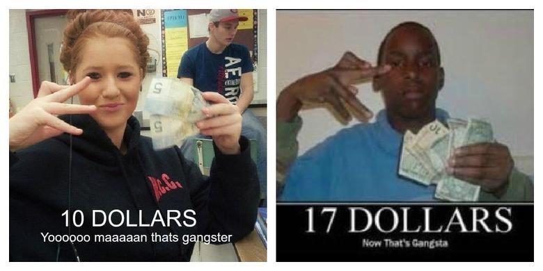 "Gangster. just got serious. I till) Bil 10 DOLLARS l I ""iii' I Jpn "" A Rf; Yoohoos magadan thats gangster. Ten pounds Now that's crackajacks Gangster just got serious I till) Bil 10 DOLLARS l ""iii' Jpn "" A Rf; Yoohoos magadan thats gangster Ten pounds Now that's crackajacks"