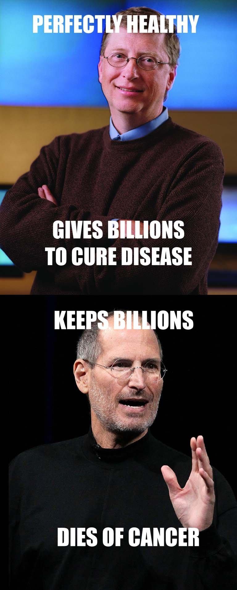 GGG vs Scumbag Steve. Good Guy Gates vs. Scumbag Steve Jobs.. Karma's a bitch, huh? GGG vs Scumbag Steve Good Guy Gates Jobs Karma's a bitch huh?