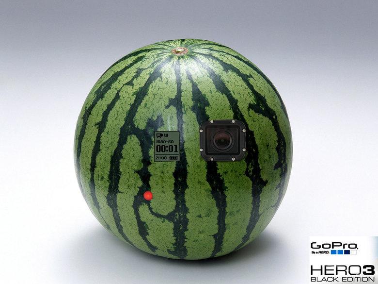 Go Pro Black edition. It's a watarmelon!!. BLACK EDITION black Edition watermelon more black edition again