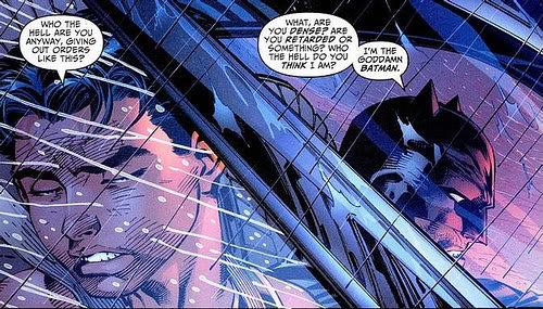 God Damn Batman. The guy in this pic talking to batman is obviously stupid XD. batman God Damn