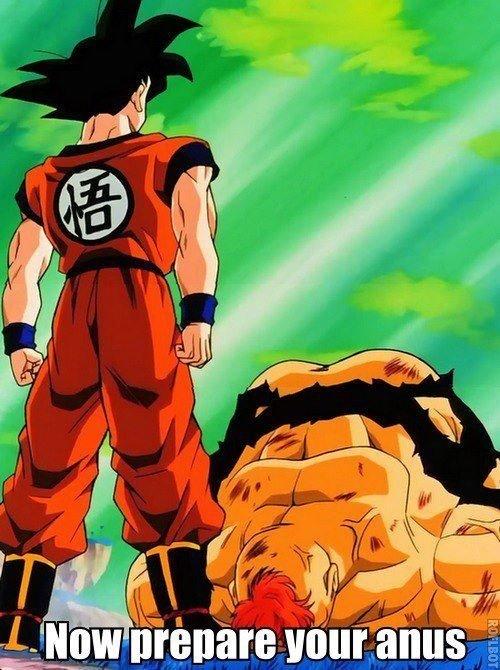 Goku's rough!. .. Brokeback BallZ Goku recoombe namek