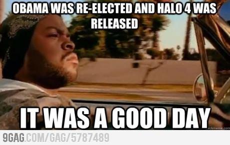 Good day. . obama Halo ice cube