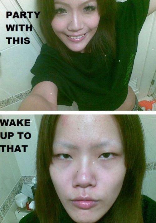 Good Morning. Hey did ya sleep allri-AAAAAAAAARRRRRRRRGHHHH!!!!!11!1!!! !. Holy fuck Good morning Ugly chick Crazy Asians