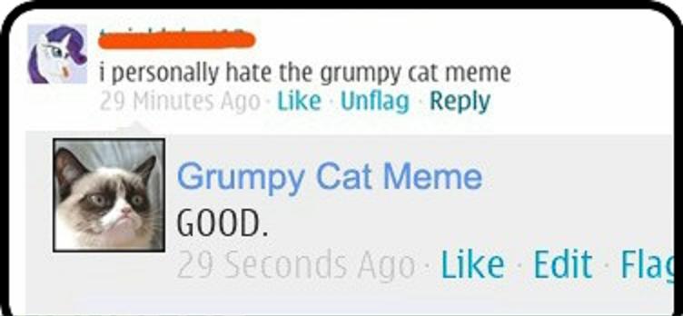 Good...good...gooood. Good. t t i personally hate the grumpy tat meme Like Reply Grumpy Cat Meme GOOD. Like Edit Fla Good