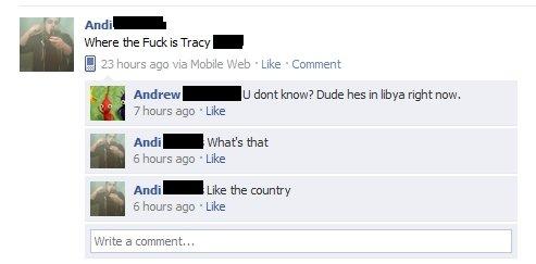 google saves dignity. . facebook status facepalm Libya Military