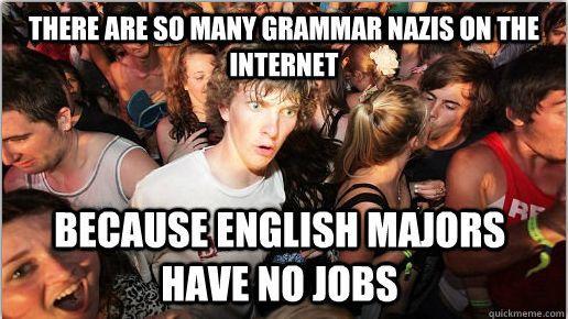 """Grammar Nazi's. . ll mm Managua nun: . ft HAVE """" JOBS Grammar Nazi's ll mm Managua nun: ft HAVE """" JOBS"""