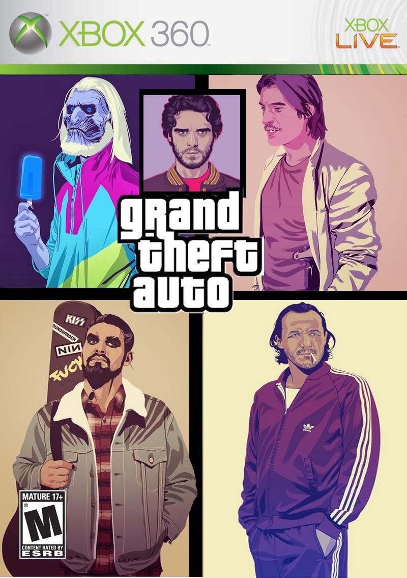 Grand Theft Thrones. .. The last one looks like Russel Crowe. Grand Theft Thrones The last one looks like Russel Crowe