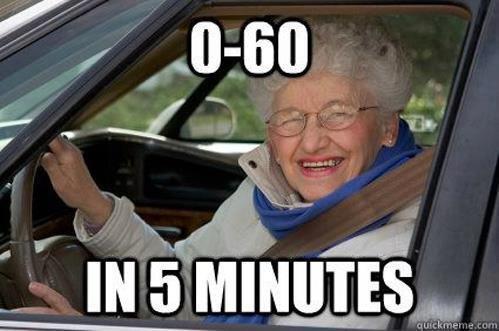 Granny Driving. . Granny Driving