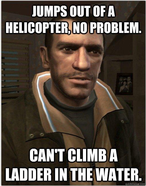GTA Logic. GTA players will understand. OC.. CHIMPS MIT III A killall? art CAN' T A lit m WATER.. SHOOT ALL THE HOOKERS gta logic niko bellic BLAH