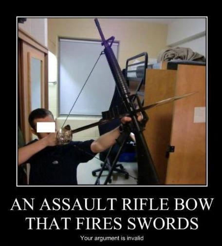 Guns. . AN ASSAULT RIFLE BOW THAT FIRES SB/ ORDS. Are you sure this will work? Guns AN ASSAULT RIFLE BOW THAT FIRES SB/ ORDS Are you sure this will work?