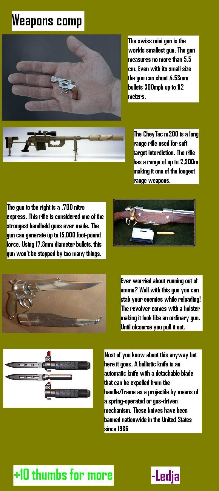 guns. some oc i made.... e gun ta the right is a INTI] HUN I: press. This '. is .'llortt! rd! lrl'! lri. ane at the 1 I handheld guns ever made. The an sen gene weapons ledja