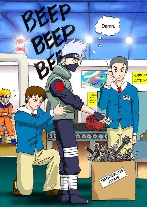 Kakashi vs. Metal Detector. Kakashi vs. metal detector... EVERY TIME kakashi Metal Detector Weapons Ninja Naruto