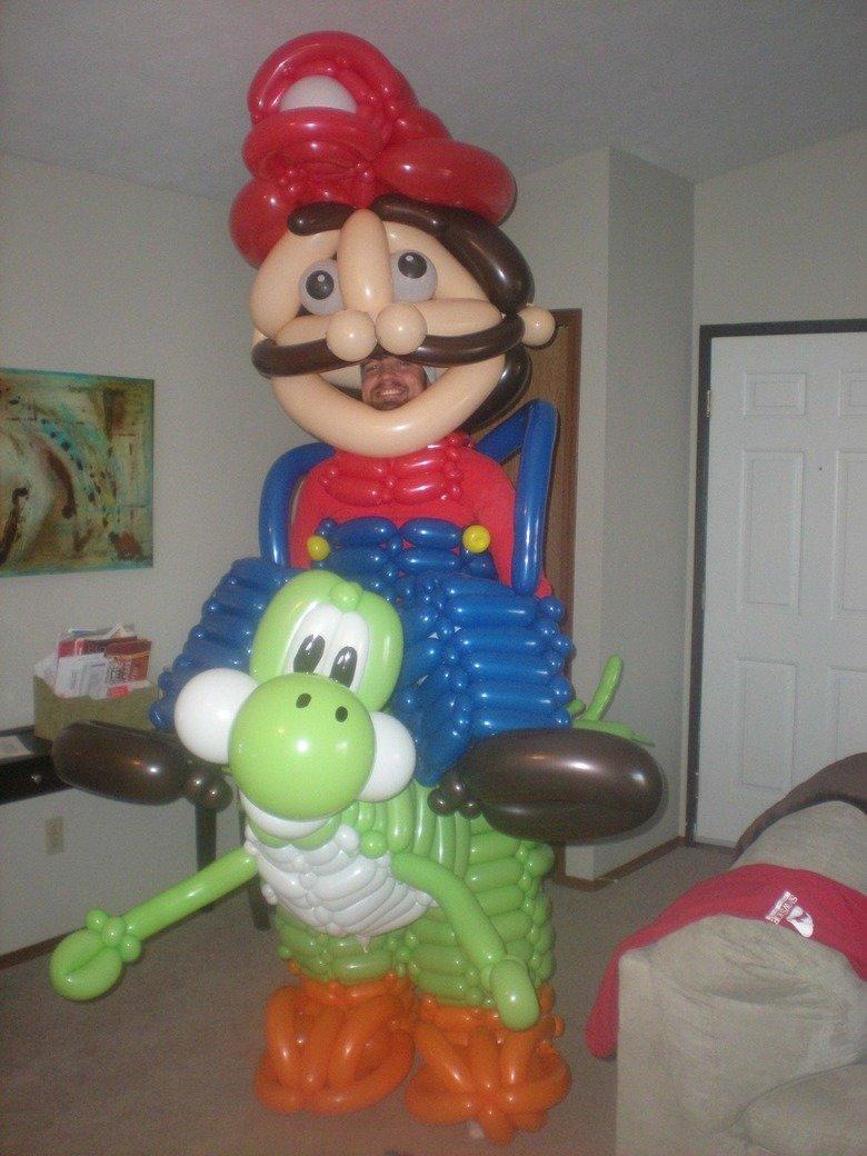 Kill me. .. HUEHUEHUE Mario Yoshi Nintendo funny balloons