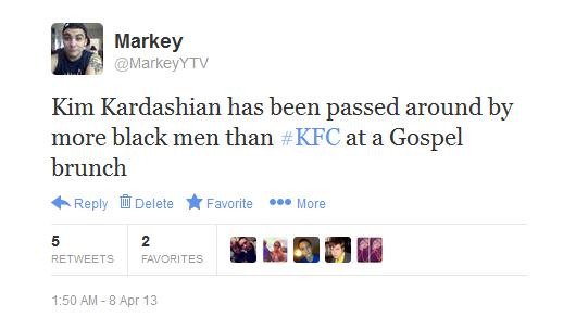 Kim Kardashian. .. sad part is, some people would still her... twitter funny entertainment kim kardashian KFC