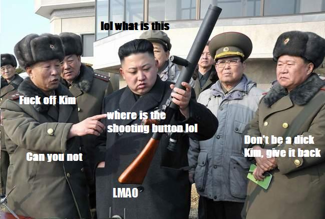 Kim on guns. . O c