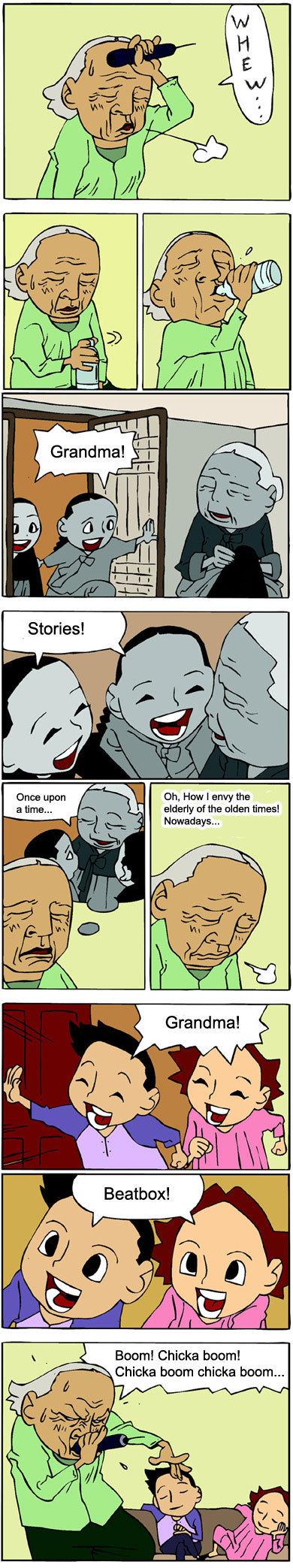 Kinda of true,. Spare thumb because it is funny. beast ASS grandma