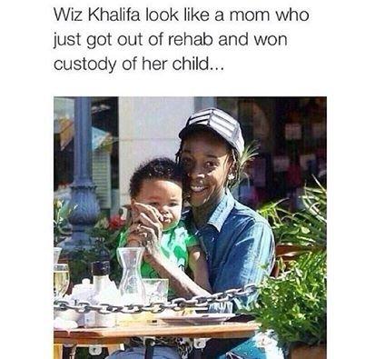 Kiz Whalifa. . Wiz Khalifa look like a mom who just got out of rehab and won custody of her child... jizz khalifa