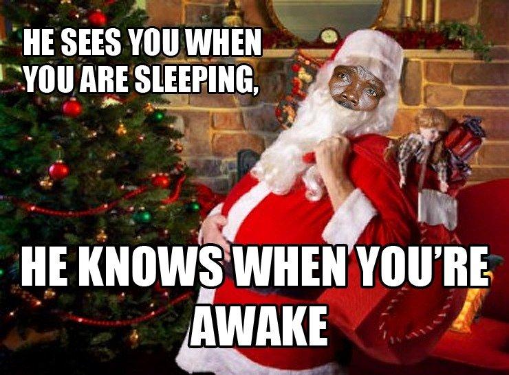Kony Klause. . L HE SEES Will WHEN I 'Will ABE SLEEPING t. . WIDEN YOU' RE Santa Kony Christmas xmas Uganda Joseph