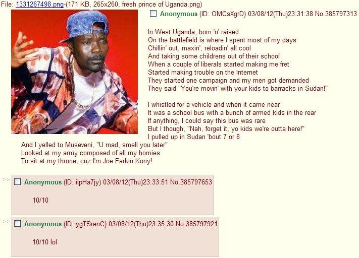 Kony. . Joseph Kony bullshit Bel air will smith Niggerfuck