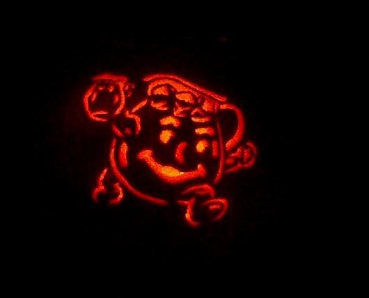 Kool-aid Man Pumpkin. Oh yeah!. kool aid Pumpkin Halloween