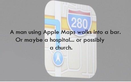 Oh Apple. You so funny. Apple maps Hurhur