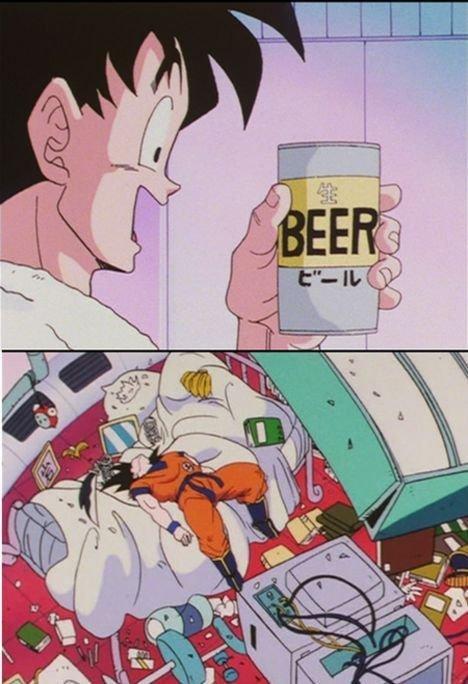 oh goku.. so true.. goku beer