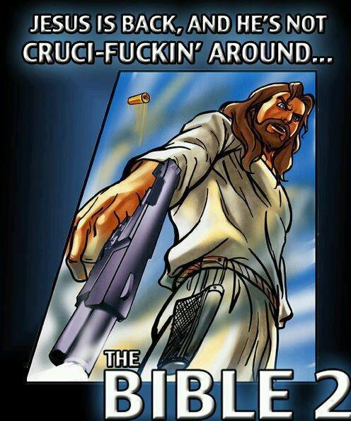 oh jesus. . JESUS IS BACK, AND HE' S NOT jesus christ bib