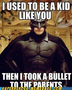 Ohh Batman. . batman bullet skyrim arrow Knee Parents funny dark knight bruce wayne adventurer
