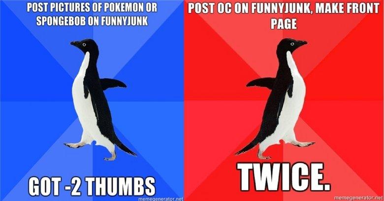 Om nom nom OC. Post OC complaining about Funnyjunk<br /> (Get OVER 9000 THUMBS). PME Om nom OC Post complaining about Funnyjunk<br /> (Get OVER 9000 THUMBS) PME