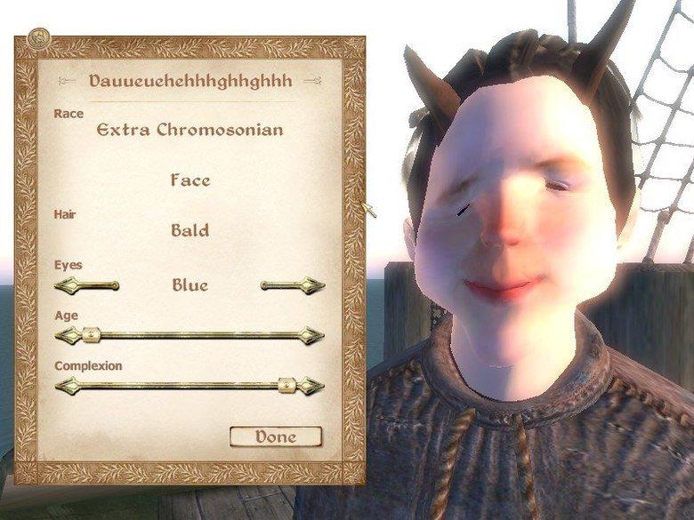 One word : customization. huehuehuehue. Race Extra Face Bald Blur: Not OC