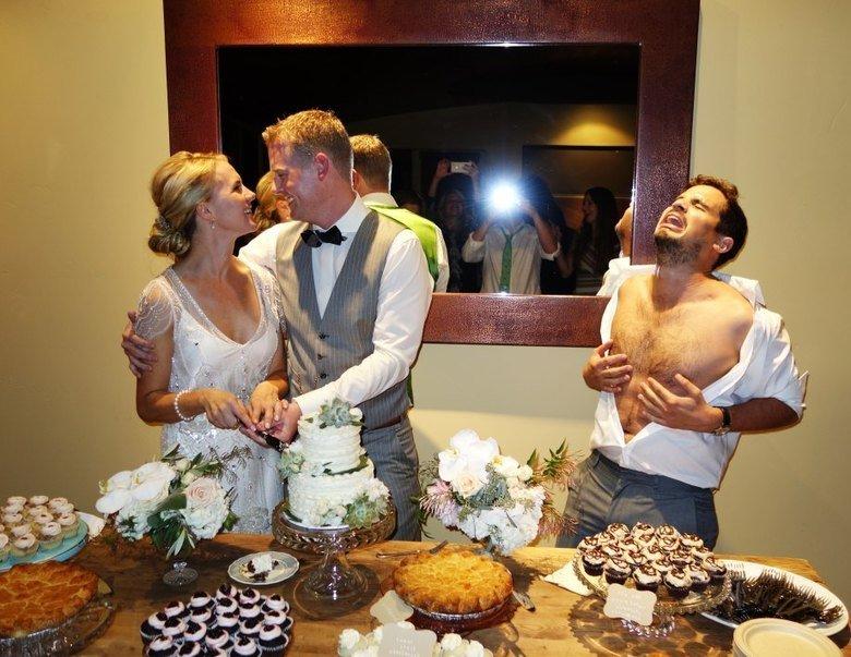 Open bar wedding. Be careful. They're dangerous... strangely related Open bar wedding Be careful They're dangerous strangely related