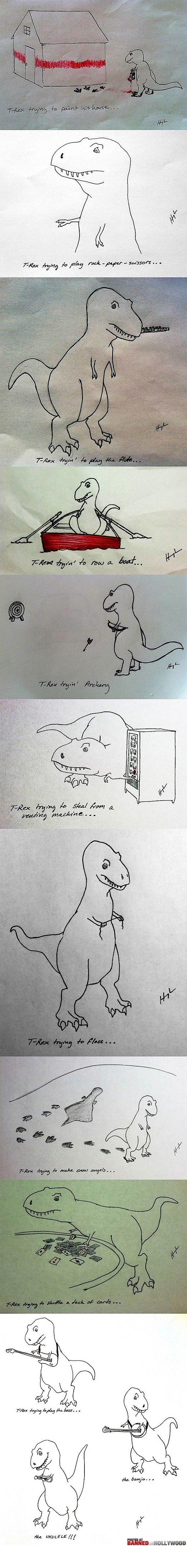 Sad Dinosaur Happy Dinosaur. .. What a heartwarming ending to a tragic tale Sad Dinosaur Happy What a heartwarming ending to tragic tale