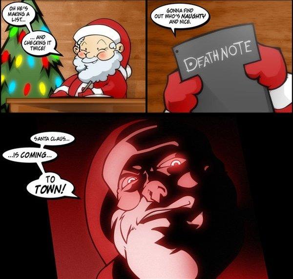 santa is the new light. . EMT HEW} HEREIN? death note