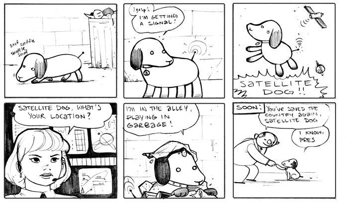 Satellite Dog. Saved the day.. igusta E satellite Dog